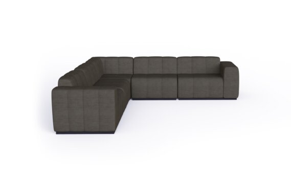 Connect Modular 5 L-Sectional Modular Sofa - Flanelle by Blinde Design