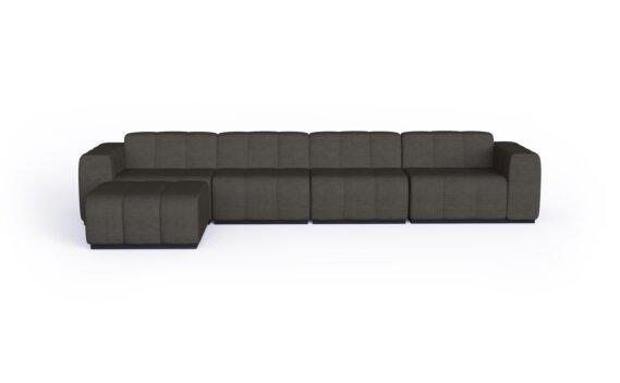 Connect Modular 5 Sofa Chaise Modular Sofa - Flanelle by Blinde Design
