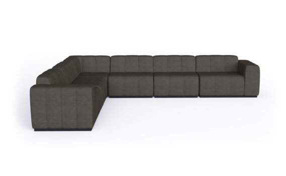 Connect Modular 6 L-Sectional Modular Sofa - Flanelle by Blinde Design