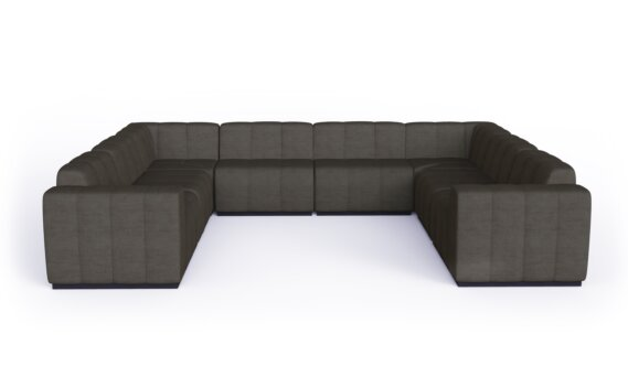Connect Modular 8 U-Sofa Sectional Modular Sofa - Flanelle by Blinde Design