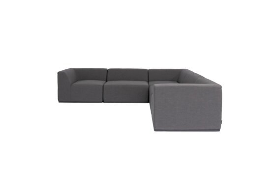 Relax Modular 5 L-Sectional Modular Sofa - Flanelle by Blinde Design
