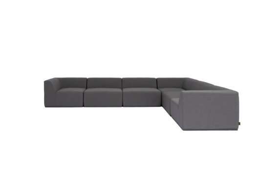Relax Modular 6 L-Sectional Modular Sofa - Flanelle by Blinde Design