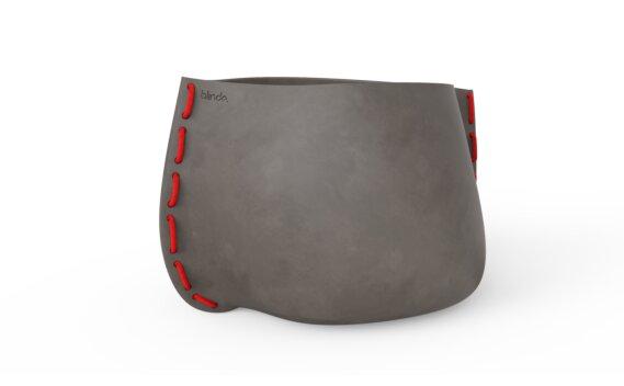 Stitch 125 Planter - Natural / Red by Blinde Design