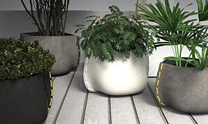 Stitch 100 Plant Pot - In-Situ Image by Blinde Design