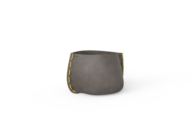 Stitch 25 Plant Pot - Natural / Yellow by Blinde Design