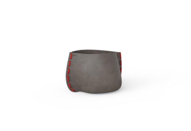 Stitch 25 Plant Pot - Natural / Red by Blinde Design