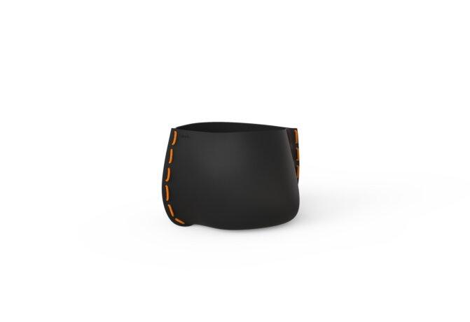 Stitch 25 Plant Pot - Graphite / Orange by Blinde Design