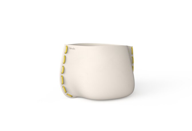 Stitch 50 Plant Pot - Ethanol / Bone / Yellow by Blinde Design