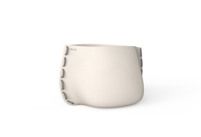 Stitch 75 Plant Pot - Bone / Grey by Blinde Design