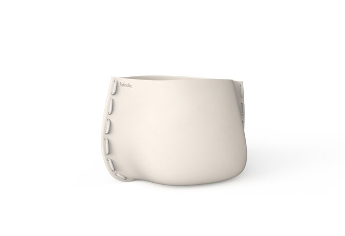 Stitch 75 Plant Pot - Bone / White by Blinde Design