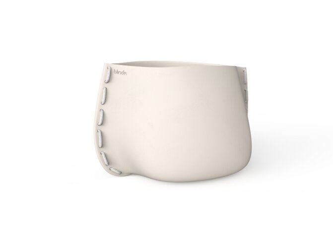 Stitch 100 Plant Pot - Bone / White by Blinde Design