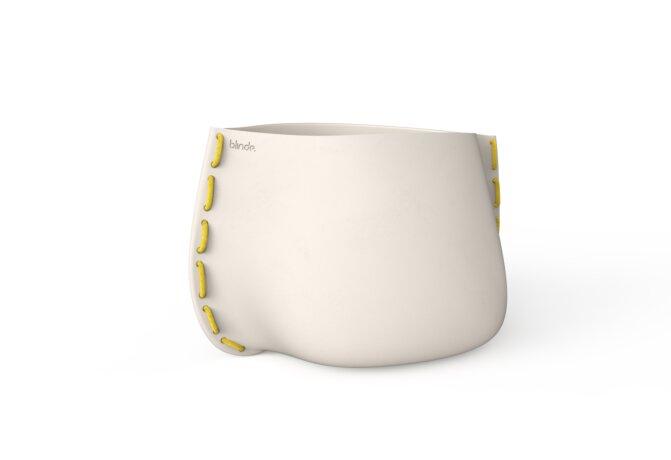 Stitch 100 Plant Pot - Bone / Yellow by Blinde Design