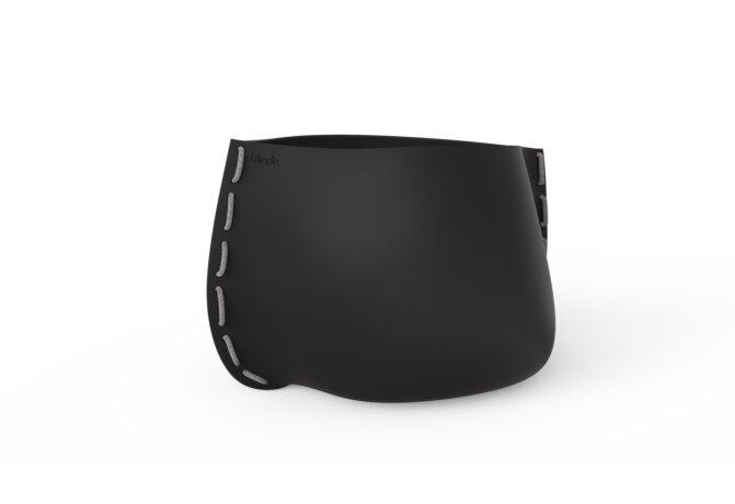 Stitch 100 Plant Pot - Graphite / Grey by Blinde Design
