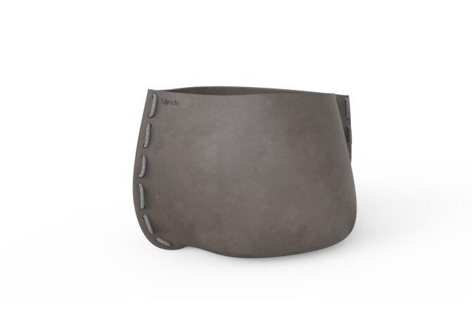 Stitch 100 Plant Pot - Natural / Grey by Blinde Design