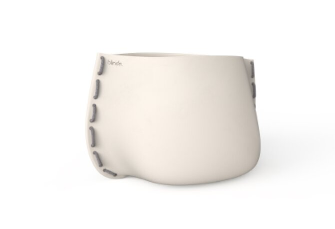 Stitch 125 Plant Pot - Ethanol / Bone / Grey by Blinde Design