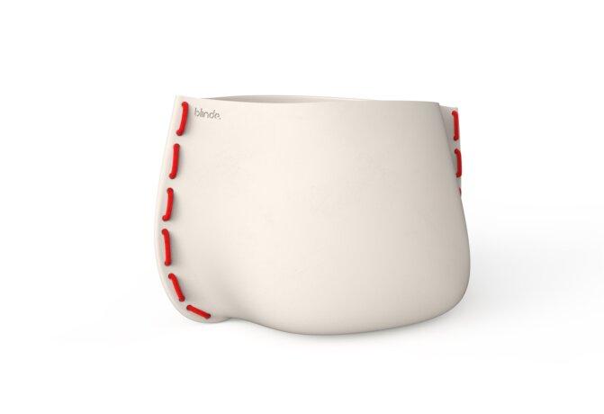 Stitch 125 Plant Pot - Ethanol / Bone / Red by Blinde Design