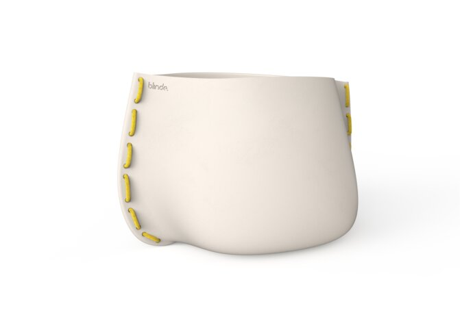 Stitch 125 Plant Pot - Ethanol / Bone / Yellow by Blinde Design