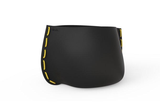 Stitch 125 Plant Pot - Ethanol / Graphite / Yellow by Blinde Design