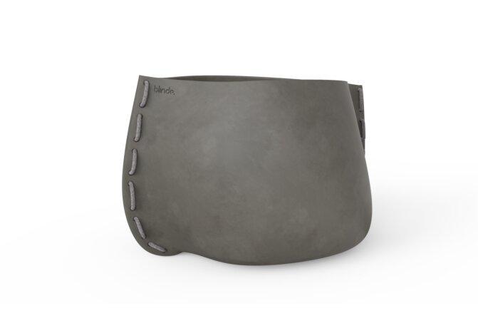 Stitch 125 Plant Pot - Ethanol / Natural / Grey by Blinde Design
