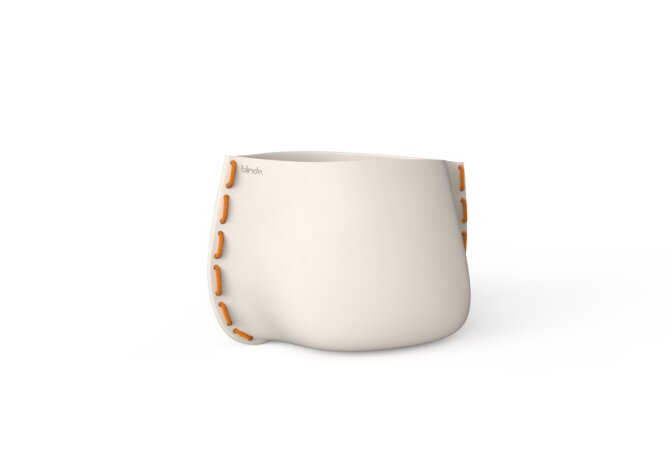 Stitch 50 Plant Pot - Ethanol / Bone / Orange by Blinde Design