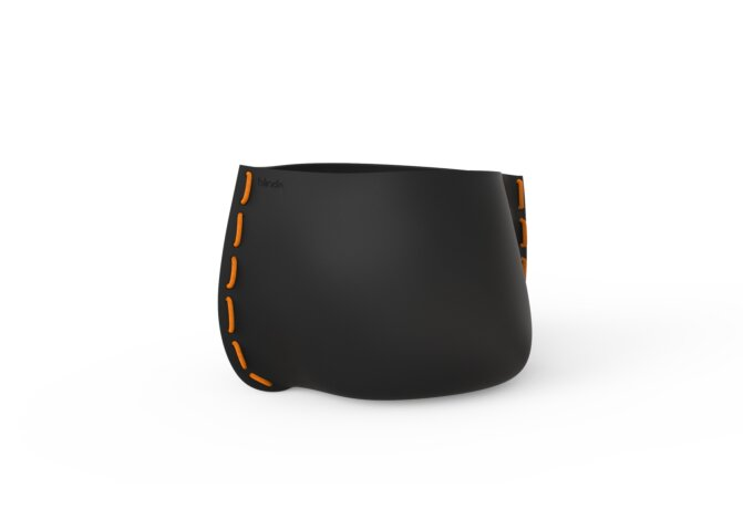 Stitch 75 Plant Pot - Graphite / Orange by Blinde Design