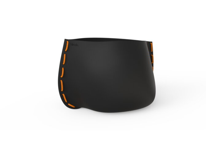Stitch 100 Plant Pot - Graphite / Orange by Blinde Design