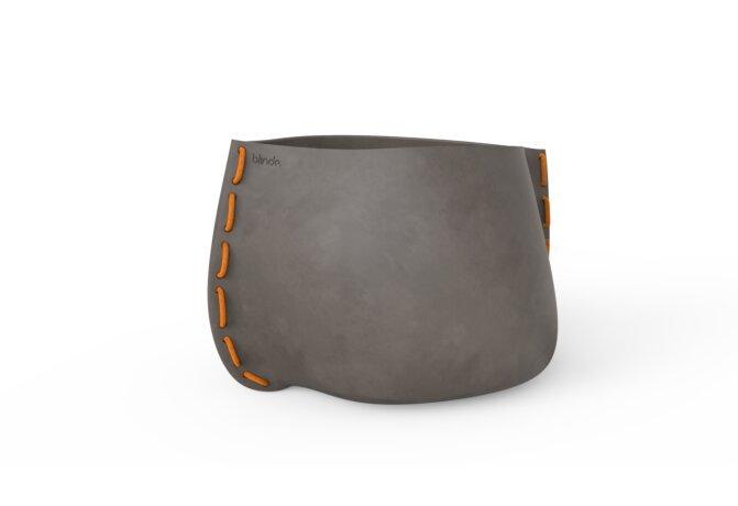 Stitch 100 Plant Pot - Natural / Orange by Blinde Design