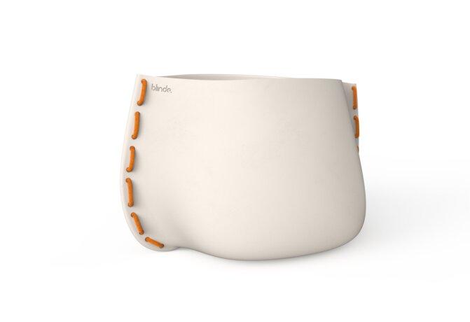 Stitch 125 Plant Pot - Ethanol / Bone / Orange by Blinde Design