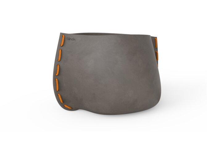 Stitch 125 Plant Pot - Ethanol / Natural / Orange by Blinde Design