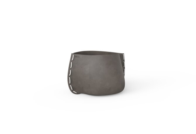 Stitch 25 Plant Pot - Natural / White by Blinde Design