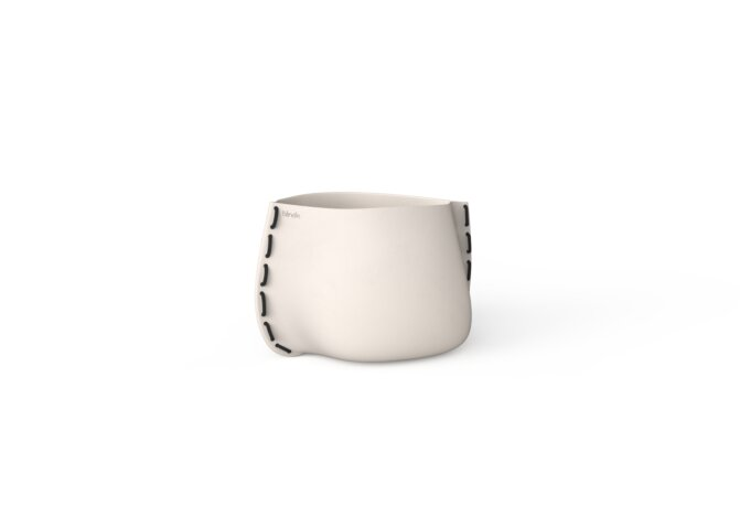 Stitch 25 Plant Pot - Bone / Black by Blinde Design
