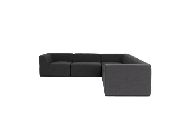 Relax Modular 5 L-Sectional Modular Sofa - Sooty by Blinde Design