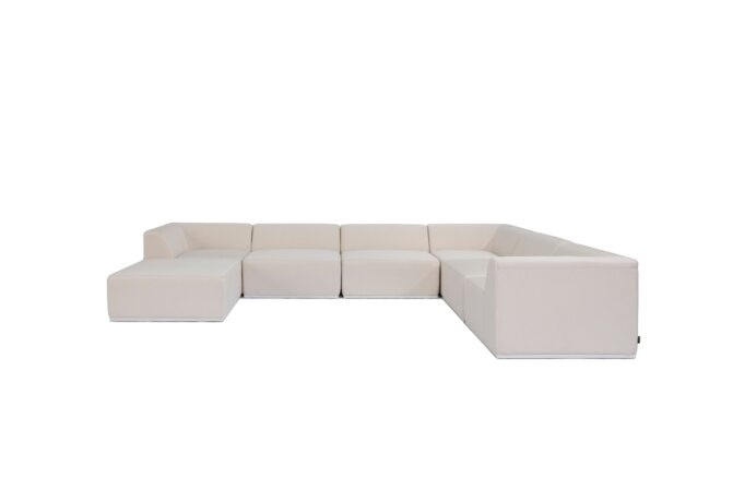 Relax Modular 7 U-Sofa Chaise Sectional Modular Sofa - Canvas by Blinde Design