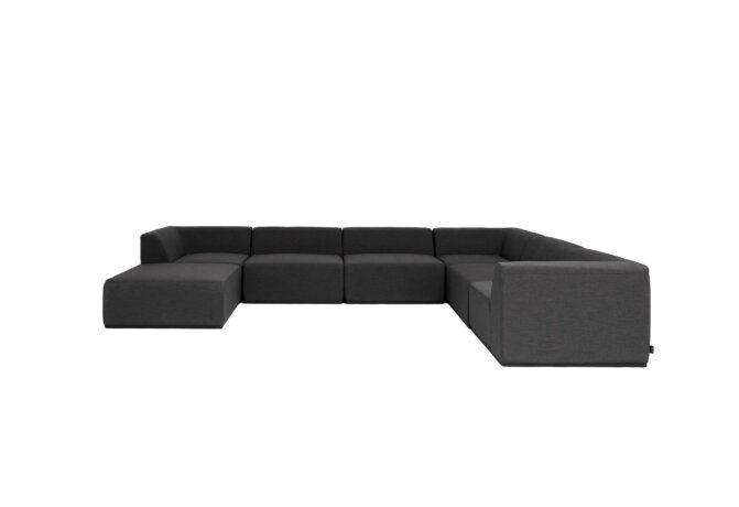 Relax Modular 7 U-Sofa Chaise Sectional Modular Sofa - Sooty by Blinde Design