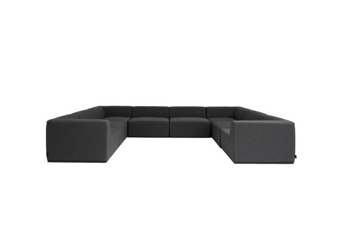 Relax Modular 8 U-Sofa Sectional Modular Sofa - Sooty by Blinde Design
