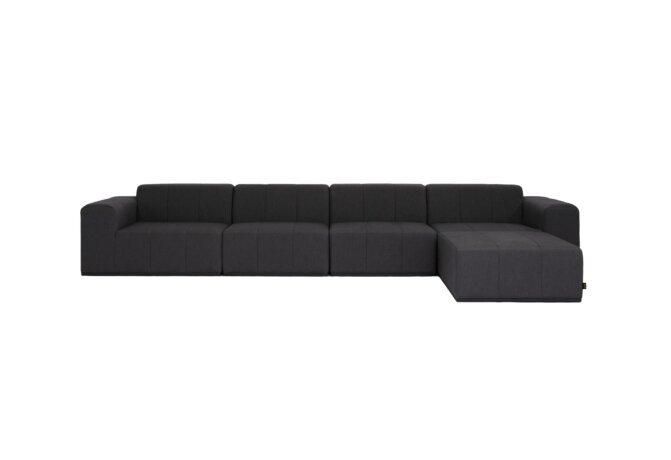 Connect Modular 5 Sofa Chaise Modular Sofa - Sooty by Blinde Design