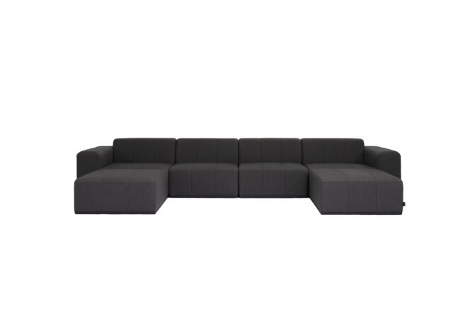 Connect Modular 6 U-Chaise Sectional Modular Sofa - Sooty by Blinde Design