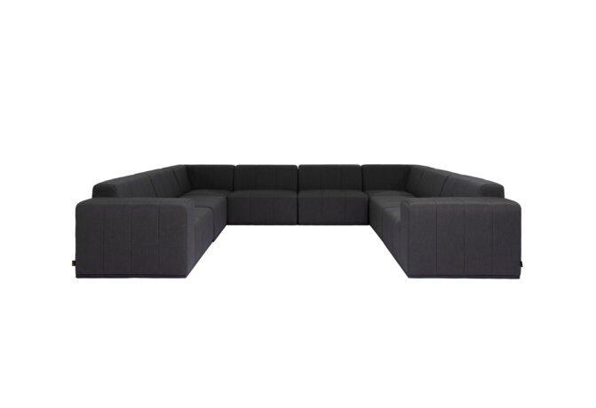 Connect Modular 8 U-Sofa Sectional Modular Sofa - Sooty by Blinde Design